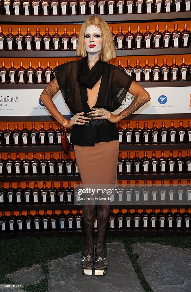Drag Queen Raja (aka Sutan Amrull) arrives at the Dita Von Teese and Cointreau Launch Cointreau Poolside Soirees event at the Beverly Hills Hotel on July 11, 2012 in Beverly Hills, California.