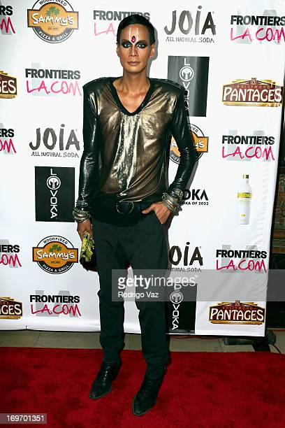 Drag queen Raja attends the opening night of 'Priscilla Queen Of The Desert' Arrivals at the Pantages Theatre on May 30 2013 in Hollywood California