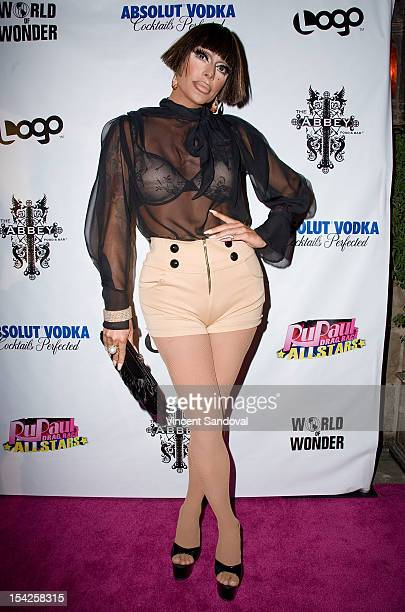 Drag Queen Raven attends 'Rupaul's Drag Race All Stars' Premiere Party at The Abbey on October 16 2012 in West Hollywood California