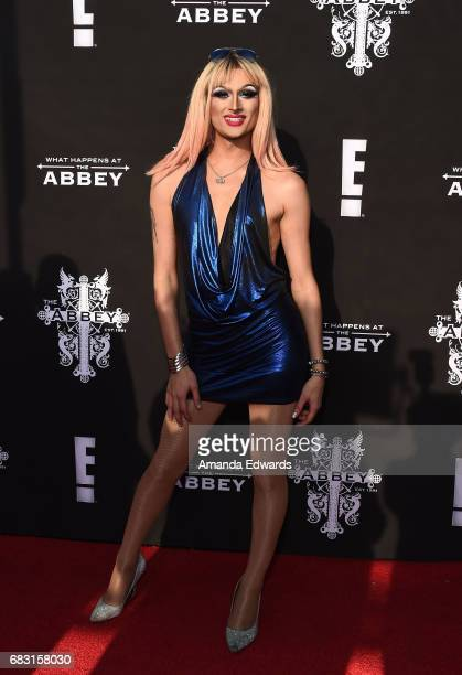 Drag queen Rhea Litre arrives at the premiere screening for E's 'What Happens At The Abbey' at The Abbey on May 14 2017 in West Hollywood California