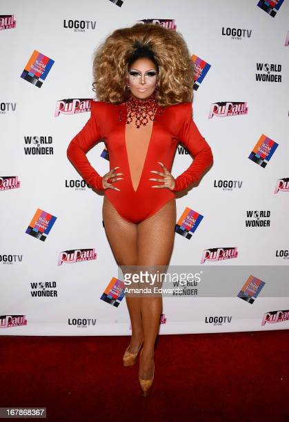 Drag queen Roxxxy Andrews arrives at Rupaul's Drag Race Season 5 Finale Reunion Coronation Taping on May 1 2013 in North Hollywood California