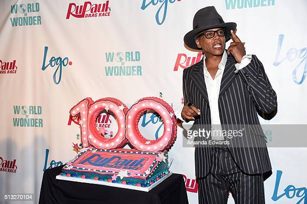 Drag queen RuPaul arrives at the premiere of Logo's 'RuPaul's Drag Race' Season 8 at The Mayan Theater on March 1 2016 in Los Angeles California