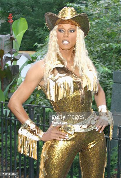 Drag Queen RuPaul performs at Wigstock 2004 August 21 2004 at Tompkins Square Park in New York City