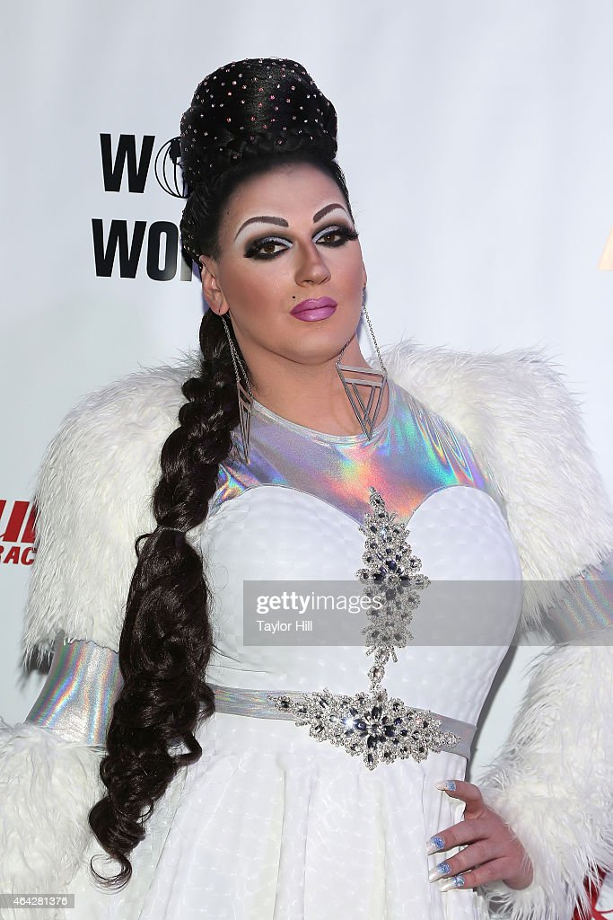 Drag queen Sasha Belle attends the 'RuPaul's Drag Race' Season 7 New York Premiere at Diamond Horseshoe at the Paramount Hotel on February 23, 2015 in New York City.