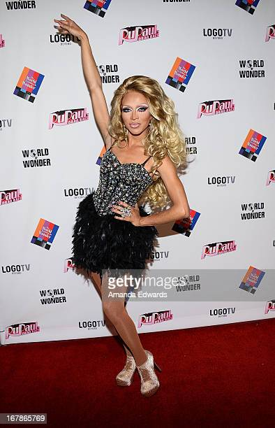 Drag queen Serena ChaCha arrives at Rupaul's Drag Race Season 5 Finale Reunion Coronation Taping on May 1 2013 in North Hollywood California