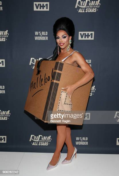 Drag queen Shangela attends RuPaul's Drag Race All Stars Meet The Queens on January 17 2018 in New York City