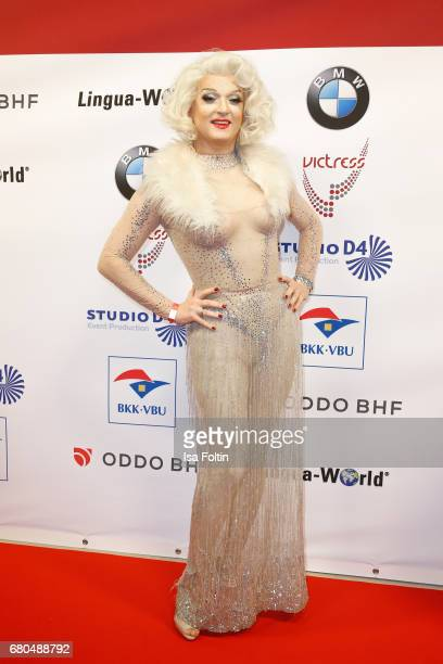 Drag Queen Sheila Wolf attends the Victress Awards Gala on May 8 2017 in Berlin Germany