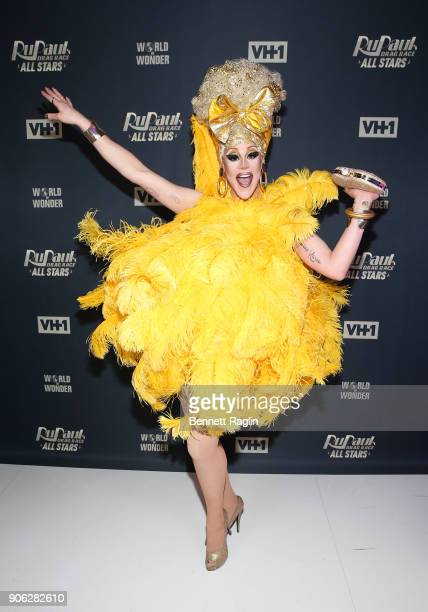 Drag queen Thorgy Thor attends RuPaul's Drag Race All Stars Meet The Queens on January 17 2018 in New York City