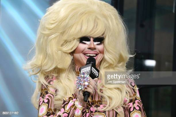 Drag queen Trixie Mattel attends Build to discuss 'The Trixie Katya Show' at Build Studio on November 1 2017 in New York City