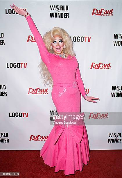 Drag queen Trixie Mattel attends 'RuPaul's Drag Race' season 7 at The Mayan on February 18 2015 in Los Angeles California