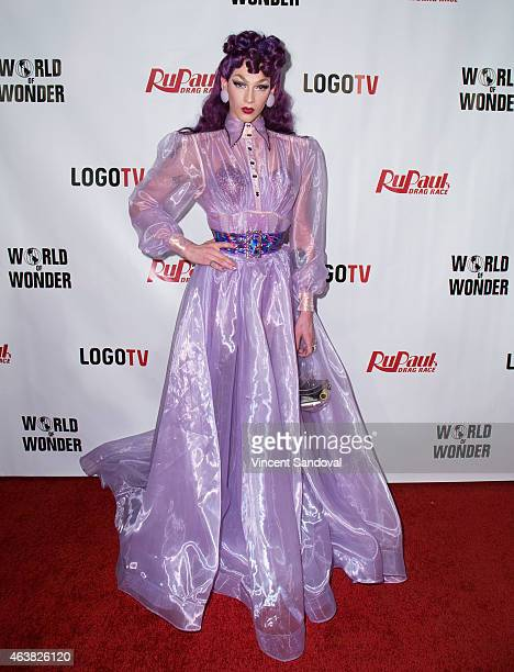 Drag queen Violet Chachki attends RuPaul's Drag Race season 7 at The Mayan on February 18 2015 in Los Angeles California