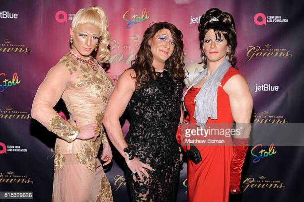 Drag queens attend the 30th Annual Night Of A Thousand Gowns at Marriott Marquis Times Square on March 12 2016 in New York City