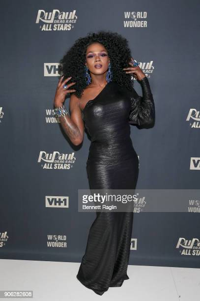 Drag queens Chi Chi DeVayne attends RuPaul's Drag Race All Stars Meet The Queens on January 17 2018 in New York City
