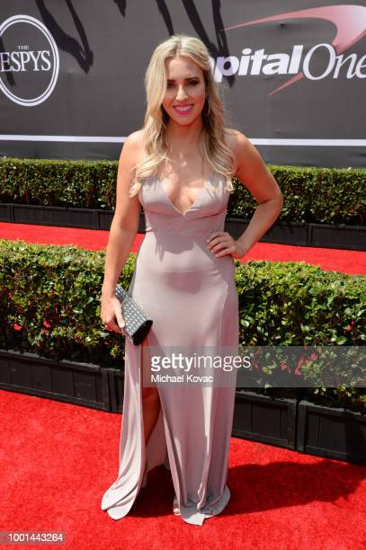 Drag racer Brittany Force attends the 2018 ESPY Awards Red Carpet Show Live! Celebrates With Moet & Chandon at Microsoft Theater on July 18, 2018 in...