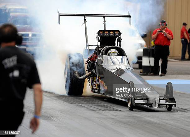 MORRISON CO Drag racer Jim Whiteley duting his burnout in his Top Alcohol Dragster for a practice run at Bandimere Speedway Thursday afternoon Drag...
