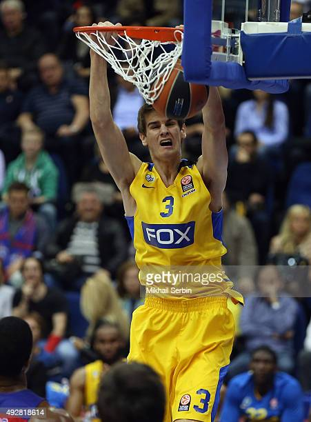 Dragan Bender 3 of Maccabi Fox Tel Aviv in action during the Turkish Airlines Euroleague Basketball Regular Season Date 1 game CSKA Moscow v Maccabi...