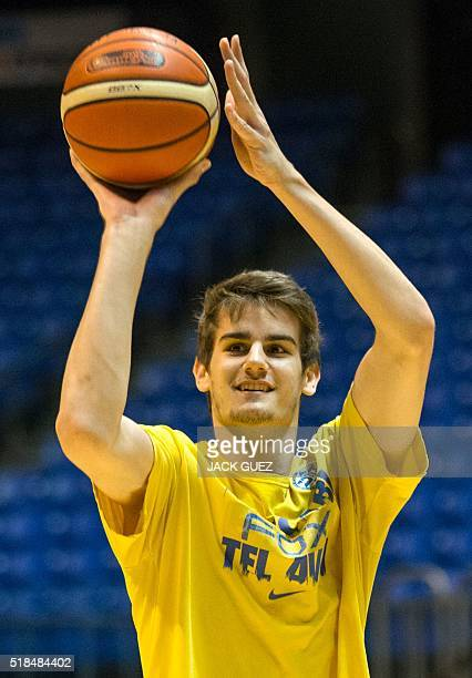 Dragan Bender a professional Croatian basketball player currently playing for Maccabi Tel Aviv in the Israeli Basketball Super League attends a...