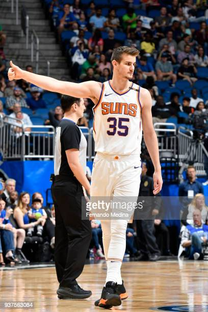 Dragan Bender of the Phoenix Suns during the game against the Orlando Magic on March 24 2018 at Amway Center in Orlando Florida NOTE TO USER User...