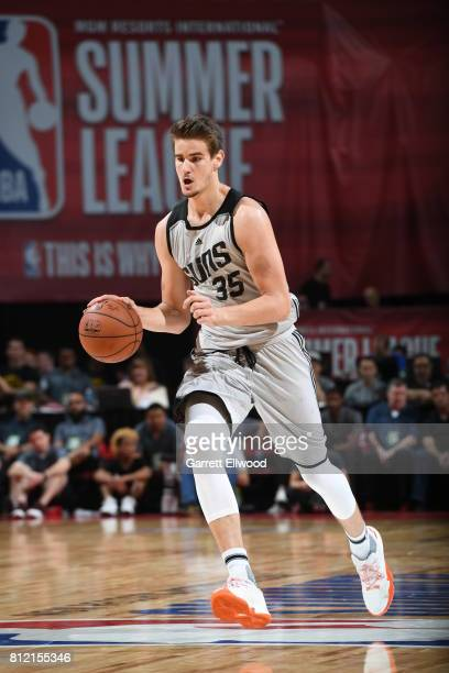 Dragan Bender of the Phoenix Suns handles the ball against the Houston Rockets on July 10 2017 at the Thomas Mack Center in Las Vegas Nevada NOTE TO...
