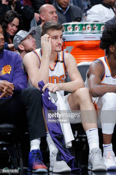 Dragan Bender of the Phoenix Suns looks on during the game against the Sacramento Kings on December 12 2017 at Golden 1 Center in Sacramento...
