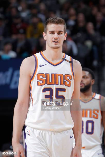 Dragan Bender of the Phoenix Suns looks on during the game against the Sacramento Kings on December 29 2017 at Golden 1 Center in Sacramento...