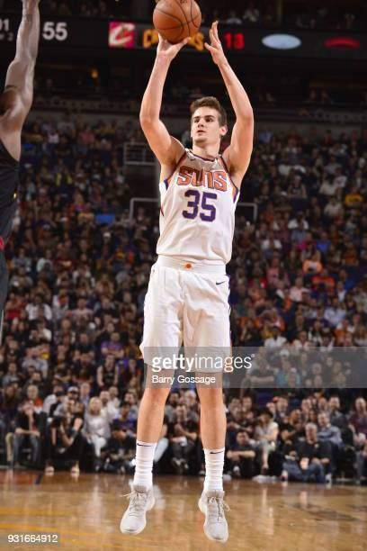 Dragan Bender of the Phoenix Suns shoots the ball against the Cleveland Cavaliers on March 13 2018 at Talking Stick Resort Arena in Phoenix Arizona...
