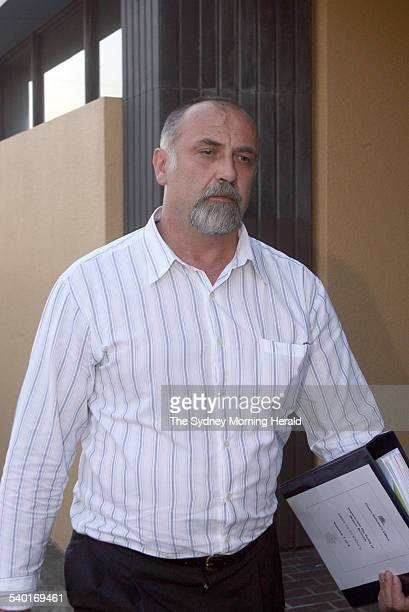 Dragan Losic leaves Glebe Coroner's Court this evening after giving evidence at the inquiry into the September 2002 death of Dianne Brimble aboard a...