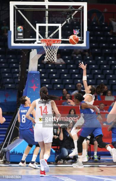 Dragana Stankovic of Serbia in action during the FIBA Women's Eurobasket 2019 quarter between Serbia and Great Britain on July 07 2019 in Belgrade...