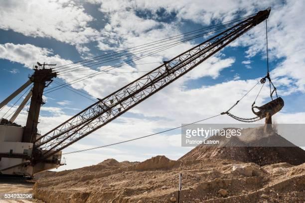 Dragline Digging in Open Phosphate Mine