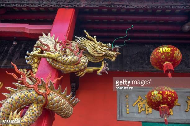 dragon and lantern - shaifulzamri stock pictures, royalty-free photos & images