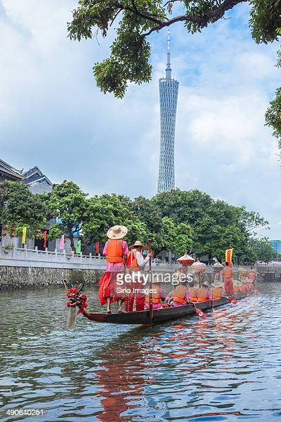dragon boat of guangzhou - dragon boat festival stock pictures, royalty-free photos & images