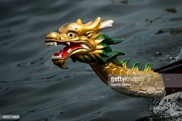 Dragon boat racers race during Hong Kong International Dragon Boat Races on June 7 2014 in Hong Kong Hong Kong The dragon boat festival is also known...