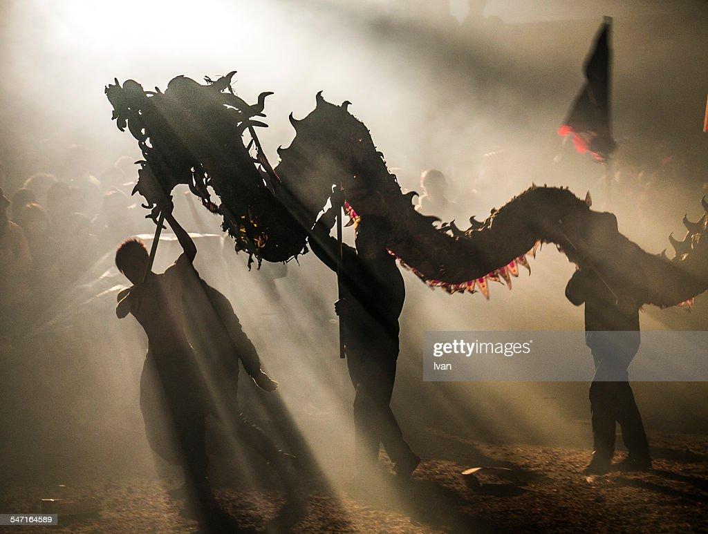 Dragon Bombing Festival : Stock Photo