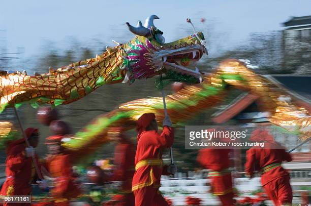Dragon Dance, Chinese New Year, Spring Festival, Beijing, China, Asia