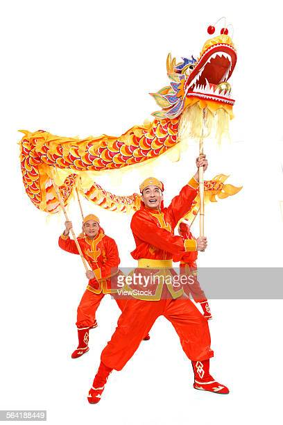 dragon dance - chinese dragon stock photos and pictures