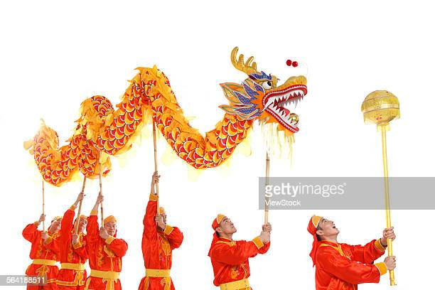 dragon dance - chinese dragon stock pictures, royalty-free photos & images