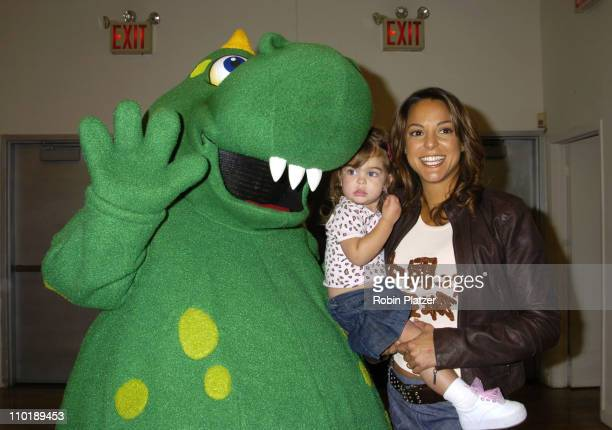 Dragon Eva La Rue and daughter Kaya Callahan during 3rd Annual Children's Day Artrageous for the Edwin Gould Services for Children and Families at...