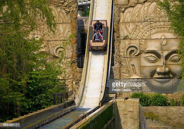 Dragon Falls ride at Chessington World of Adventures