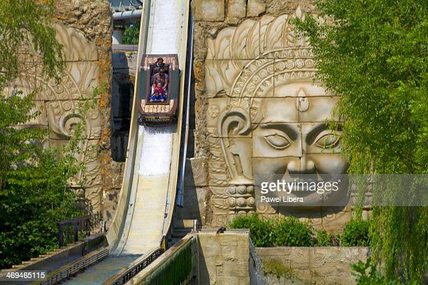 Dragon Falls ride at Chessington World of Adventures Theme Park