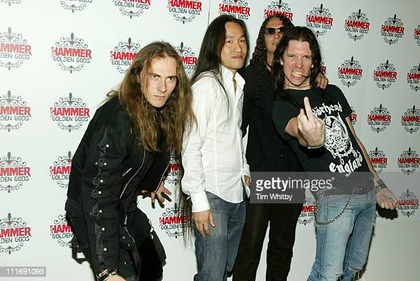 Dragon Force during The Metal Hammer Golden Gods Awards 2005 Arrivals Press Room at The Astoria in London Great Britain