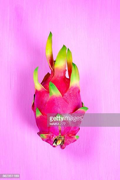 Dragon fruit,Pitaya or Pitahaya on pink background