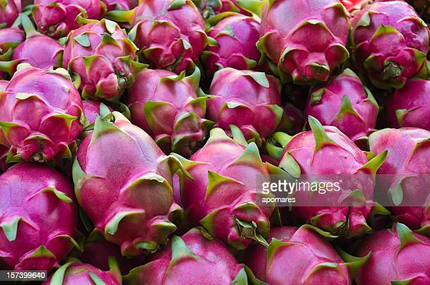 dragon fruits - tropical fruit stock pictures, royalty-free photos & images