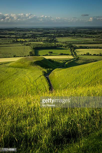 dragon hill vale of white horse - アフィントン ストックフォトと画像