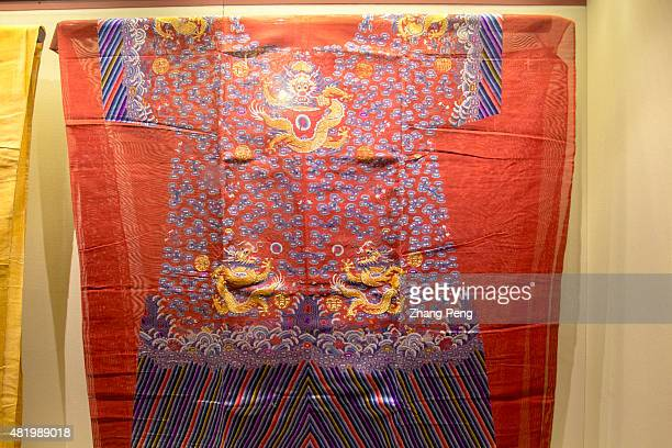 Dragon patterns on the costumes of emperors and empresses exhibited in the Palace Shenyang Imperial Palace built in 1625 is the former imperial...