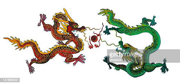 dragon (xxlarge) - chinese dragon stock photos and pictures