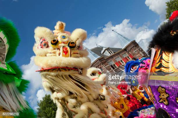 Dragon puppet for Chinese New Year in Amsterdam