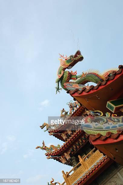Dragon sculpture on roof @ JiuFern (Taiwan)