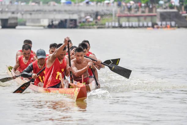 Dragon-boat Racing in Guzhen Town.