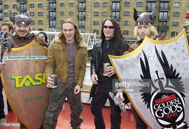Dragonforce during Metal Hammer Golden Gods 2006 Nominations Announcement at Butler's Wharf in London Great Britain
