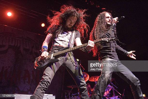 DragonForce during The Inaugural No Fear Music Tour April 04 2007 at Murat Egyptian Room in Indianapolis Indiana United States
